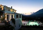 Image: Stunning villa with large heated pool & beautiful valley & sea views